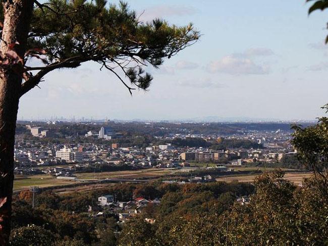 秀吉本陣跡からの風景